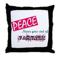 Peace Fashion Throw Pillow