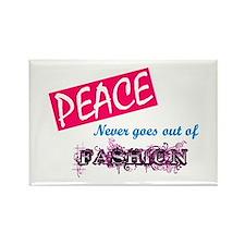 Peace Fashion Rectangle Magnet