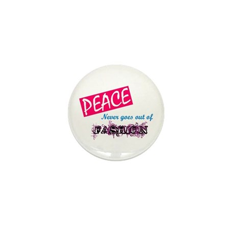 Peace Fashion Mini Button