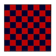 Checkers R/B Mini Game Board Tile Coaster