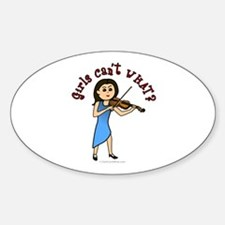 Light Violinist Oval Decal