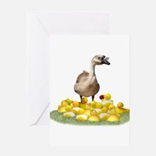 Funny Duck teacher Greeting Card