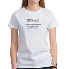 Democracy and Liberty Girls Cartoon Tee