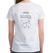 Democracy and Liberty Girls Cartoon Tee