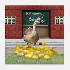 Funny Teacher duck Tile Coaster