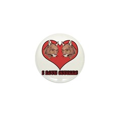 I Love Cougars Mini Button (100 pack)