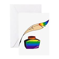 Rainbow Writer Greeting Card