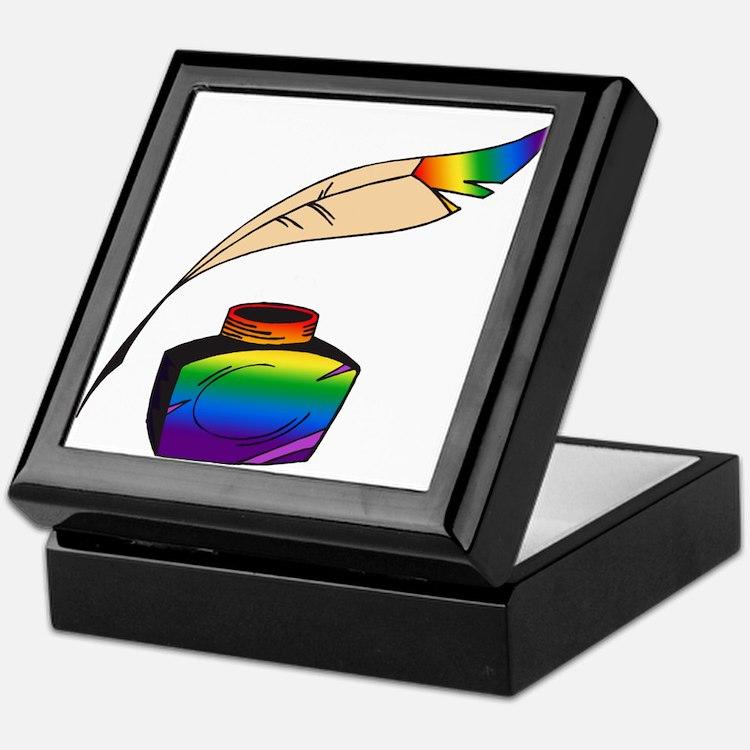 Rainbow Writer Keepsake Box