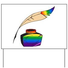 Rainbow Writer Yard Sign