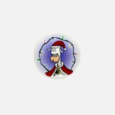 Cowman Christmas Mini Button