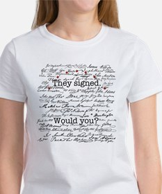 Declaration of Independence Signature Women's Tee
