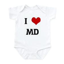 I Love MD Infant Bodysuit