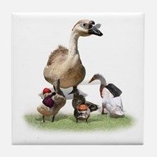 Teacher duck Tile Coaster