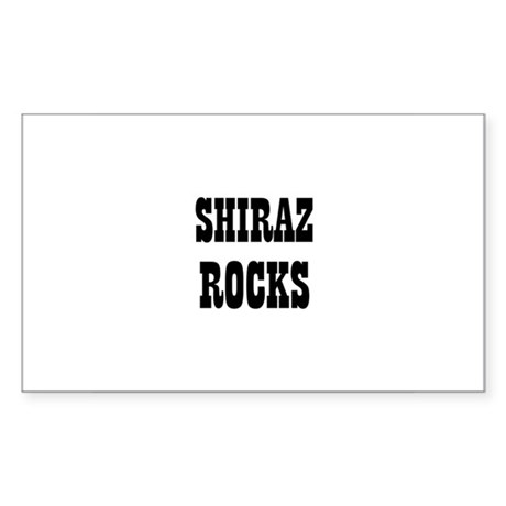 SHIRAZ ROCKS Rectangle Sticker