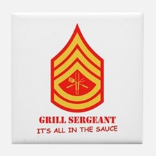 Grill Sgt. Tile Coaster