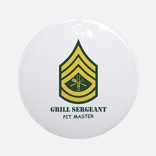 Grill Sgt. Ornament (Round)