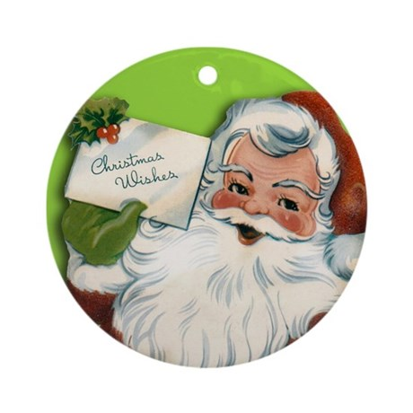 Vintage Santa Claus Image Ornament
