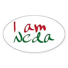 I am Neda (Free Iran) Oval Decal