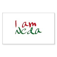 I am Neda (Free Iran) Rectangle Decal