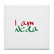 I am Neda (Free Iran) Tile Coaster