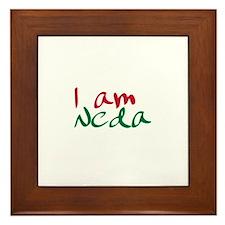 I am Neda (Free Iran) Framed Tile