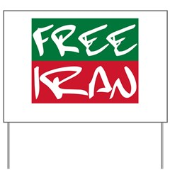 Free Iran Yard Sign