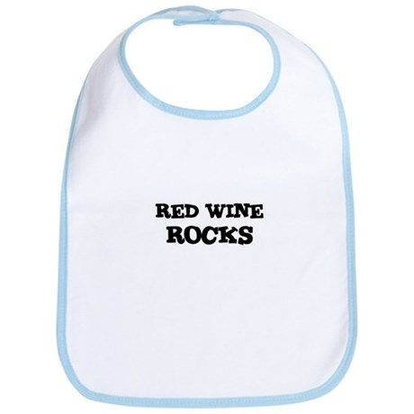 RED WINE ROCKS Bib