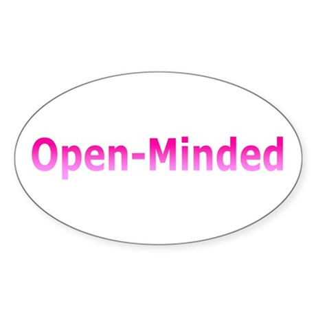 Open-Mind (Pink) Oval Sticker (10 pk)