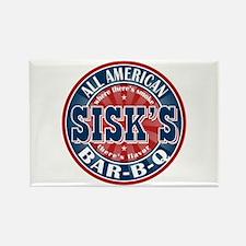 Sisk's All American BBQ Rectangle Magnet