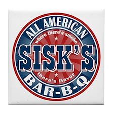 Sisk's All American BBQ Tile Coaster