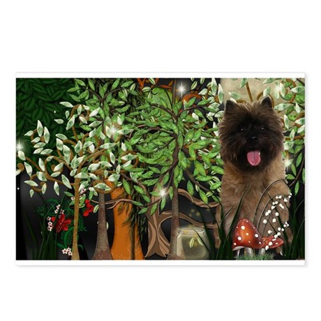 Cairn Terrier Fireflies Postcards (Package of 8)