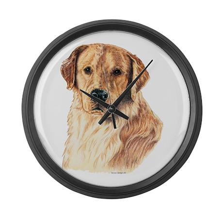 Golden Retriever Dog Large Wall Clock