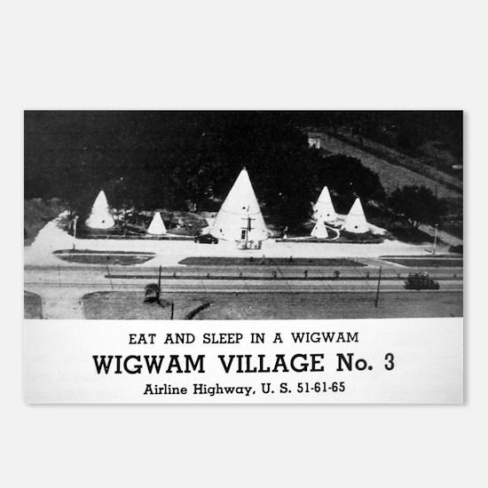 Wig Wam Village 1941 Postcards (Package of 8)