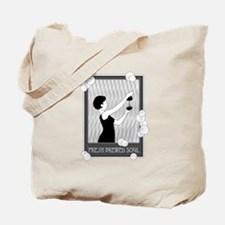 Fresh Brewed Soul B&W Tote Bag