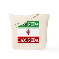 I Am Neda On Iranian Flag Tote Bag