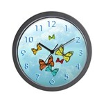 Butterflies in the Clouds (Wall Clock)