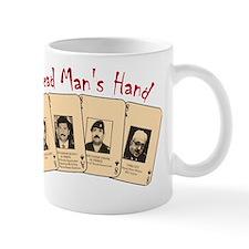 Dead Man's hand on Black Mug