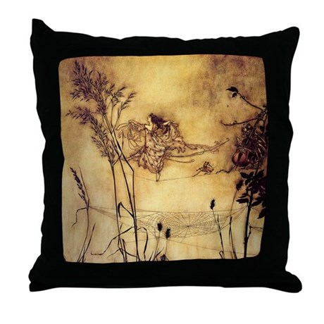 Fairies' Tightrope Throw Pillow