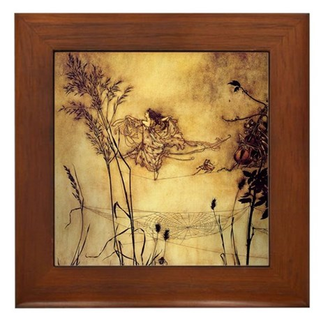 Fairies' Tightrope Framed Tile