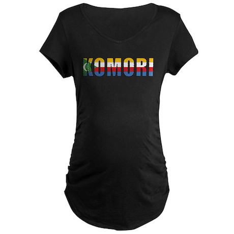 Comoros (Comorian) Maternity Dark T-Shirt