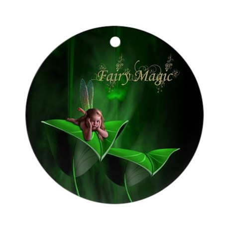 Fairy Magic Leaf Fairy Ornament (Round)