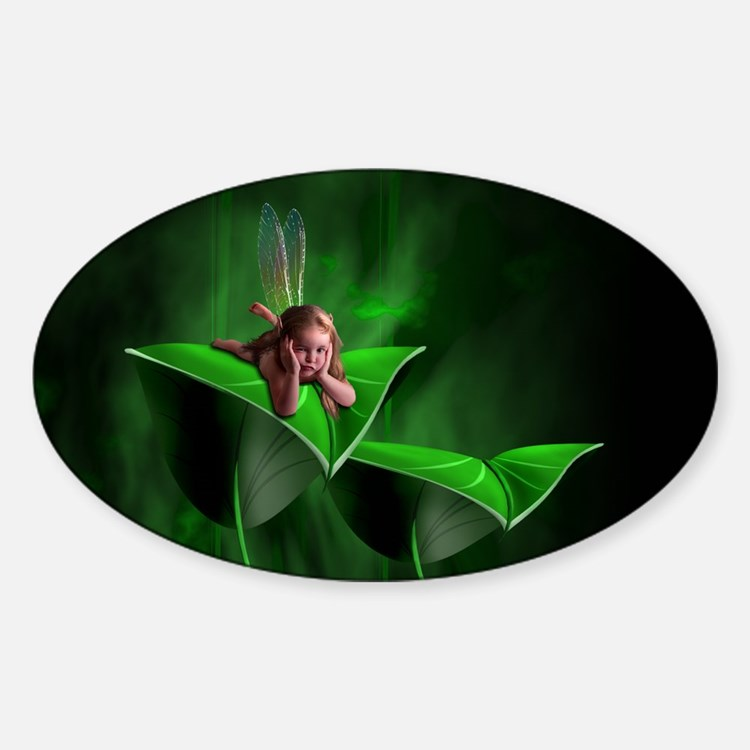 Leaf Fairy Oval Decal