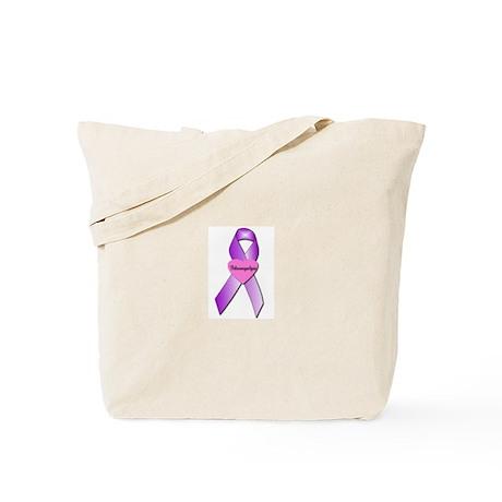 Fibro awareness ribbon and he Tote Bag
