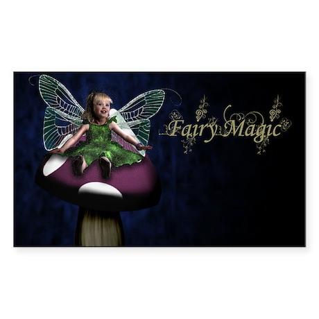 Fairy Magic Little Toadstool Fairy Sticker (Rectan
