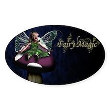 Fairy Magic Little Toadstool Fairy Oval Decal
