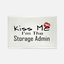 Kiss Me Storage Admin Rectangle Magnet