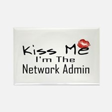 Kiss Me Network Admin Rectangle Magnet