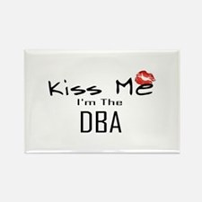 Kiss Me DBA Rectangle Magnet