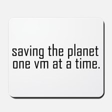 Saving the planet Mousepad