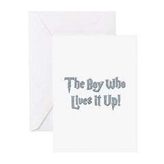 The Boy Who Lives It Up Greeting Cards (Pk of 10)